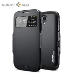 Spigen Slim Armor View Case voor Galaxy S4 - Soul Zwart