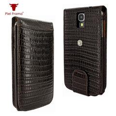 Piel Frama Snap Lizard Case for Samsung Galaxy S4 - Brown