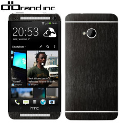 dbrand Textured Front and Back Cover Skin for HTC One - Black Titanium