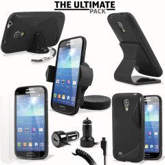 Das Ultimate Pack Samsung Galaxy S4 Mini Zubehör Set in Schwarz