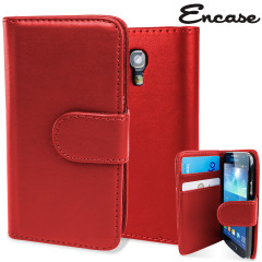 Keep your S4 Mini protected in this stylish red leather style wallet case with integrated card holder pockets.