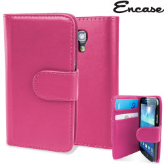 Housse Samsung Galaxy S4 Mini Portefeuille Style cuir - Rose