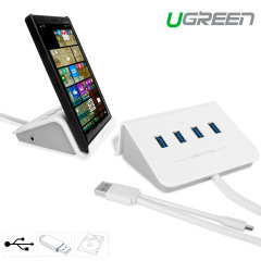 4 Port USB 3.0 OTG Hub and Smartphone / Tablet Stand