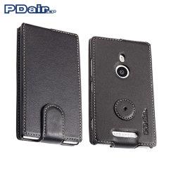 PDair Leren Flip Case voor de Nokia Lumia 925 - Zwart