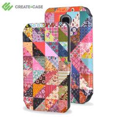 Custodia a libro Create And Case per Samsung Galaxy S4 - Grandma Quilt