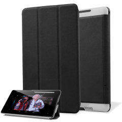 Leather Style Case Stand Nexus 7 2 Tasche in Schwarz