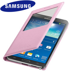 Official Samsung Galaxy Note 3 S-View Premium Cover Case - Pink
