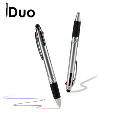 Combining an omnidirectional stylus tip compatible with 'all capacitive touchscreens' and a multi-colored ballpoint pen, this is the iDuo Multi-Ink Stylus Pen.