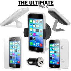 Ce pack ultime d'accessoires iPhone 5C comprend tous les indispensables pour votre smartphone. Ce pack a été conçu pour protéger et ranger votre iPhone 5C que ce soit à la maison, au bureau ou même dans votre véhicule.