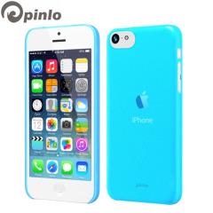 Custodia Slice 3 Pinlo per iPhone 5C - Blu Trasparente