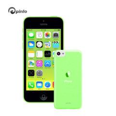Custodia Slice 3 Pinlo per iPhone 5C - Verde Trasparente