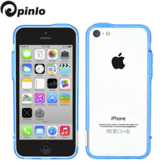 Pinlo Bladedge Bumper iPhone 5C Hülle in Blau Transparent