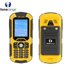 Built to withstand harsh conditions, the Fonerange Rugged 128 phone is dust, shock and waterproof (IP67 rating).