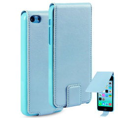 Premium FlipCase iPhone 5C Tasche in Blau