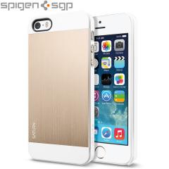 Spigen SGP Saturn voor iPhone 5S / 5 - Champagne Goud