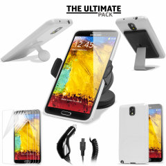 The Ultimate Samsung Galaxy Note 3 Accessory Pack - Wit