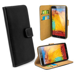 Wallet Case for Samsung Galaxy Note 3 -  Black