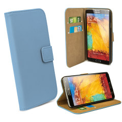 Leather Style Wallet Case voor Samsung Galaxy Note 3 - Blauw