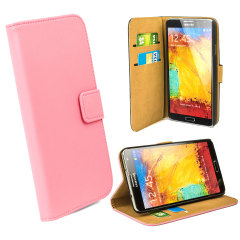 Leather Style Wallet Case voor Samsung Galaxy Note 3 - Roze