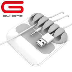 Gumbite Stoppi Desktop Cable Manager - White/Grey