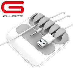Gumbite Stoppi Desktop Kabel Manager in Weiß/Grau