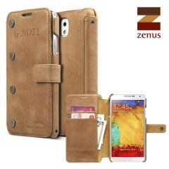 Zenus G-Note Diary Galaxy Note 3 Tasche in Braun