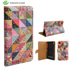Funda de tapa Sony Xperia Z1 Create and Case - Colcha de la abuela