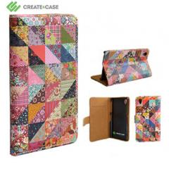 Create and Case Xperia Z1 Tasche im Book Design Grandma Quilt