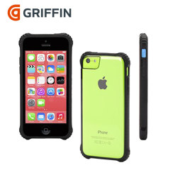 Griffin Survivor Clear iPhone 5C Hülle in Schwarz und Transparent
