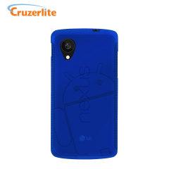 Cruzerlite Androidified A2 TPU Case for Google Nexus 5 - Blue
