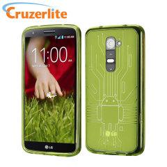Чехол Cruzerlite Bugdroid Circuit для LG G2 - Зелёный
