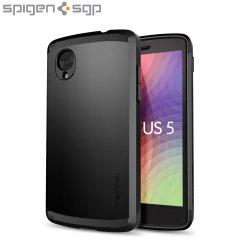 Spigen Slim Armor Case voor Google Nexus 5 - Zwart