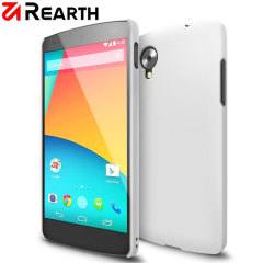 Provide your Google Nexus 5 with thin, snap-on protection with this Ringke Slim white polycarbonate case.
