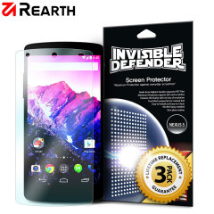 Rearth Invisible Defender 3 Pack Screenprotector voor Google Nexus 5