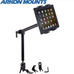 "Arkon's Heavy Duty Floor Mount Mount features an innovative holder that adjusts to fit any 7"" - 12"" tablet and attaches to your car's seat rail bolt."