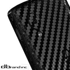 dbrand Textured Cover Nexus 5 Skin Black Carbon Fibre