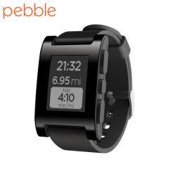 Smartwatch Pebble pour iOS et Android – Jet Noire