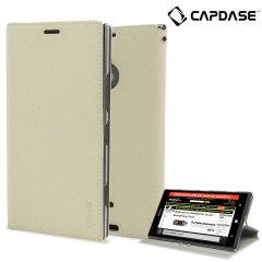 Capdase Sider Baco Folder Case for Nokia Lumia 1520 - White / Clear
