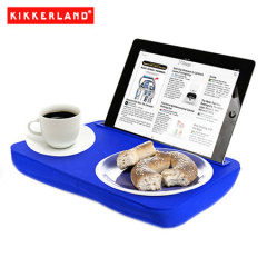 Use your tablet in bed, on the couch or on a plane all while you eat and more with the Kikkerland iBed Lap Desk in blue. Great for students, travelers or anyone with a tablet computer.