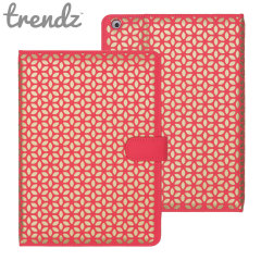Trendz Folio Stand Case for iPad Air - Coral