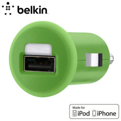Belkin Single Micro USB 1A Car Charger - Green