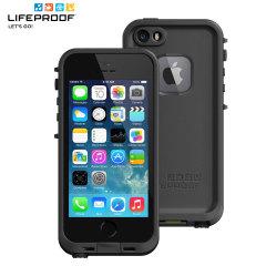Gör din telefon vattentät och upplev friheten av att surfa, sjunga i duschen, åka skidor eller snowboard, arbeta på byggarbetsplatser och njut av friheten att ta med din iPhone 5S vart du än går med det svarta skalet LifeProof Fre.