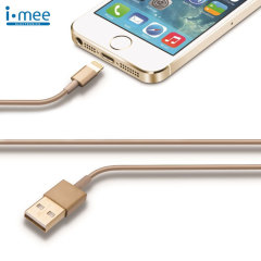 iMee Sync and Charge Lightning to USB Cable 1M - Gold