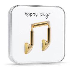 Happy Plugs EarBud Earphones Deluxe Edition - Gold