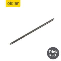Dreier Set Olixar 4 in 1 Laser Stylus Ersatzminen in schwarz