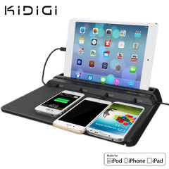 The Kidigi Chief Charging Station is a perfect solution for charging up to 4 tablets or smartphones simultaneously at home or at the office. Featuring Apple's MFi Certification for quality assurance and peace of mind.