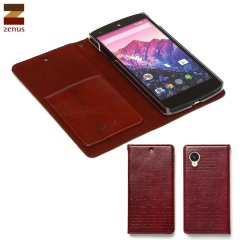 Zenus Lettering Diary Case for Google Nexus 5 - Wine Red