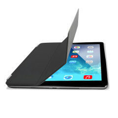 The black Smart Cover and iPad Air were made for each other. With built-in magnets to attach the Smart Cover to the iPad Air for a perfect fit that not only protects your retina display, but also wakes, stands and brightens up your iPad Air.