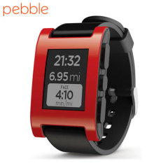 Pebble Smartwatch for iOS and Android Devices - Cherry Red