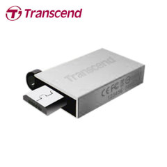 Transcend JetFlash 380 USB OTG 16GB Flash Drive - Silver